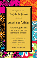Whimsical Bohemian Yellow Invitations