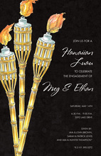 Night Bamboo Tiki Torches Invitation