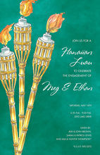 Spring Bamboo Tiki Torches Invitation