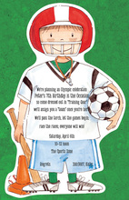 Football Soccer Kids Invitation