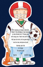 Foorball Soccer Sports Invitation