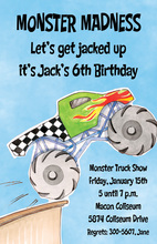 Kids Giant Monster Truck Invitations