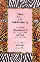 Pink Safari Life Invitations