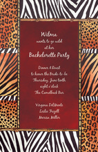 Red Safari Life Invitations