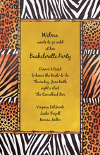 Collage Animal Prints Invitation