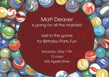 Classic Marbles Gaming Invitations