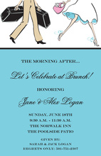 Traveling Couple Wedding Brunch Shower Invitations