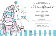 Wedding Present Stack Shower Invitations