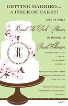 Whimsical Monogram Cake Invitations