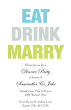 Popular Eat Drink Marry Invitations