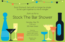 Exquisite Haute Bar Shower Invitations