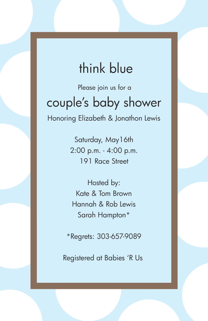 Think Blue Large Polka Dot Invitations