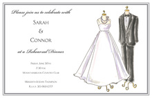Formal Wedding Clothes Invitation