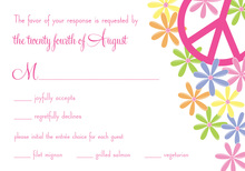 Whimsical Floral Peace RSVP Cards