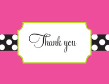 Bookplate Pink Thank You Cards