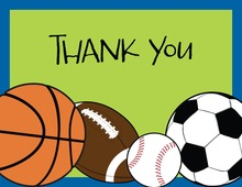 Sports Madness Thank You Cards