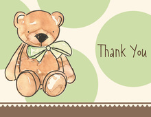 Large Polka Dots Teddy Thank You Cards