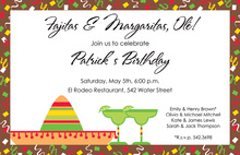 Inspired Modern Fiesta Border Invitations