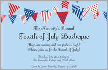 July Banner Patriotic Invitations