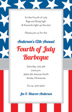 Traditional Stars Stripes Border Invitations