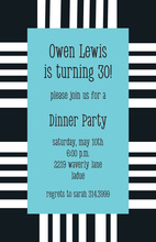 Large Bar Code Party Invitations