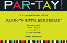 Special PAR-TAY Word Invitations
