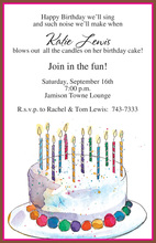 Frosted Sprinkles Birthday Cake Invites
