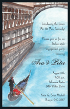 Inspired Italian Romantic Venice Invitations