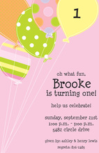 Blush Balloons Birthday Invitations