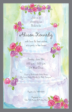 Unique Rosy Artistic Cake Invitations