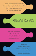 Multi-colored Special Bottles Modern Party Invitations