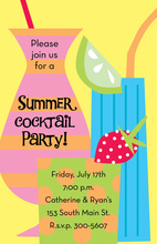 Fruity Drinks Invitation