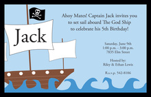 Pirate Ship Party Invitations