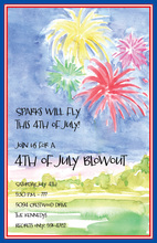 4th Of July Fireworks Invitation