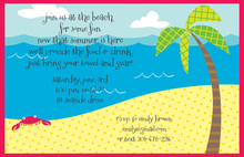 Modern Fun Ocean Beach Invitations