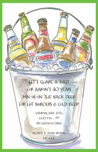 Beer Pail Bottles Invitation