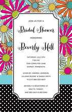 Modern Flower Mix Party Bridal Shower Invitations
