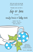Cup and Rattle Sip See Baby Shower Invitations