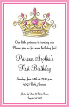 Old Style Princess Crown Invitations
