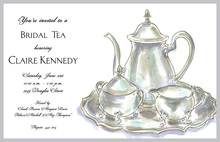 Classic Silver Tea Pot Invitations