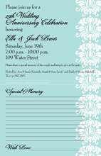 Venetian Blue Invitations