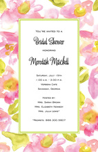 Accented Framed Floral Wash Invitations