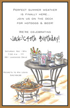 Firebowl Patio Table Invitations
