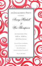 Twirl Red Invitations