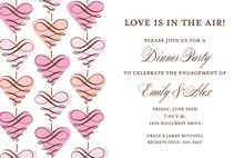 lovely Hanging Scroll Hearts Invitation