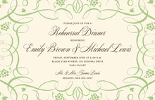 Contemporary Swirls Napa Sage Invitations