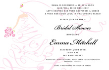 Vintage Scroll Bride Invitation