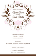 Foliage Pink Invitations