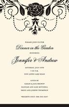 Medici Black Floral Carnation Invitations