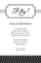 Bookplate Black Polka Dot Invitations